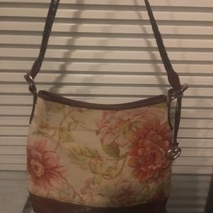 Floral print Canvas and leather Brighton bag
